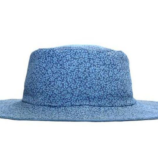 Hat / Girls - Denim Floral - M0414