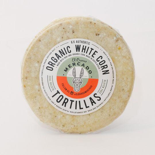 El Burro Organic White Corn Tortillas 6 pack
