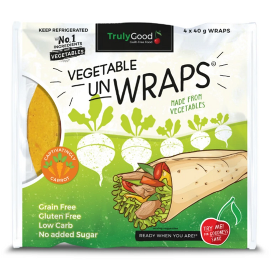 Low carb Vegetable Wrap Added Carrots