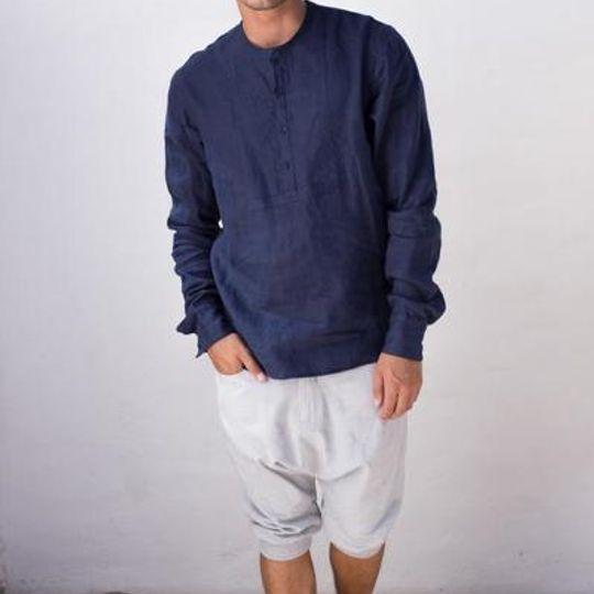 Linen Round Neck Shirt