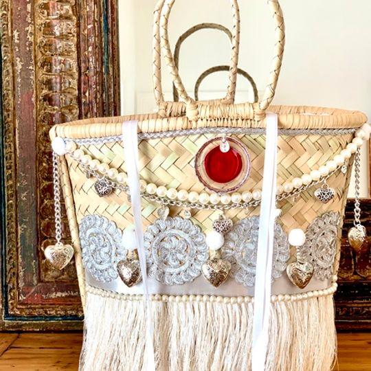 Gootchi Basket Tote Handbag/Bespoke Bridal