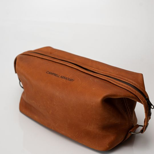 The Handstitched Toiletry Bag - Tan