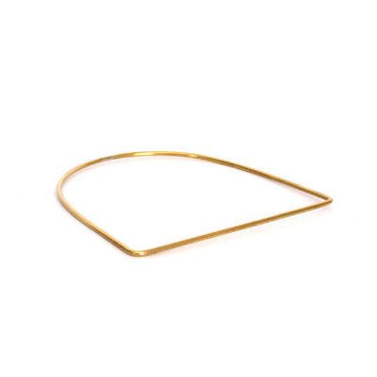 Brass Bangle - U-Shape