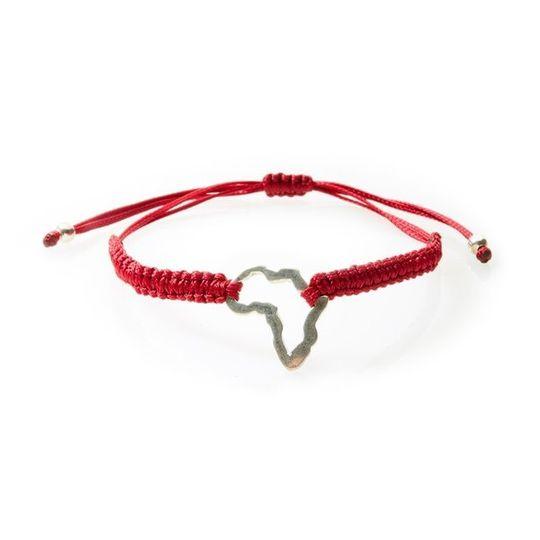 COOL Macrame Bracelet Africa - Red