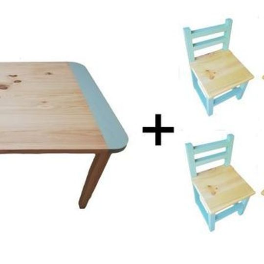 Square Table (Large) and  4 Chairs Set