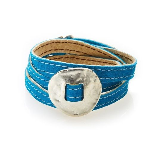BOLD Reversible suede Bracelet & Choker Plate - Turquoise/Beige