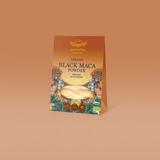 SOARING FREE SUPERFOODS Organic Black Maca Powder - 200g
