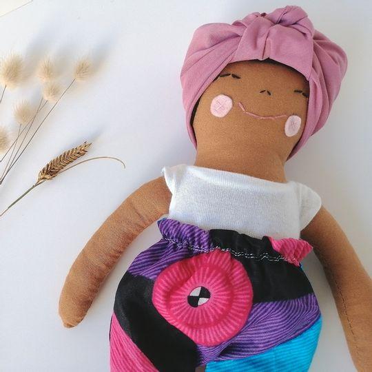 Tumi Doll in Ankara Paperbag Pant