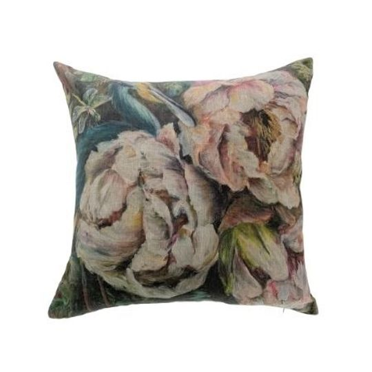 Celebrating Paradise Linen Cushion with Velvet Back
