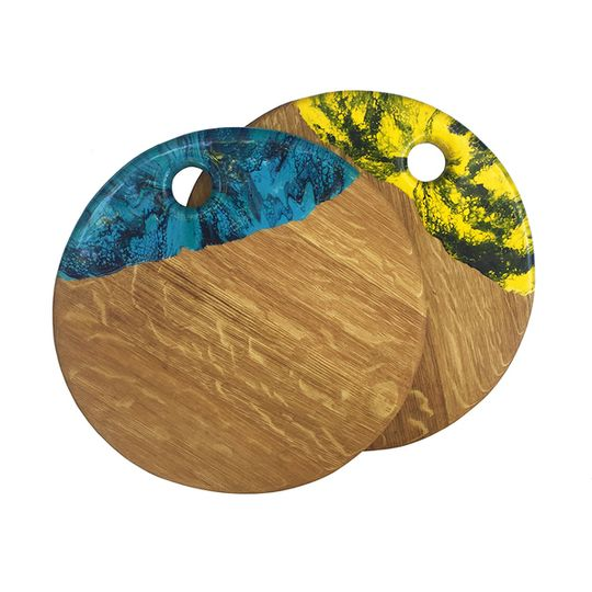 Round Oak Small Resin