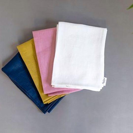 100% Linen Cot Bumper Covers