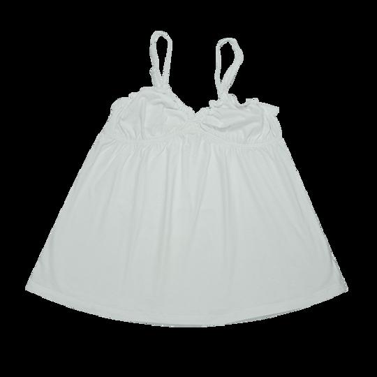 Ladies Strappy - Frill White