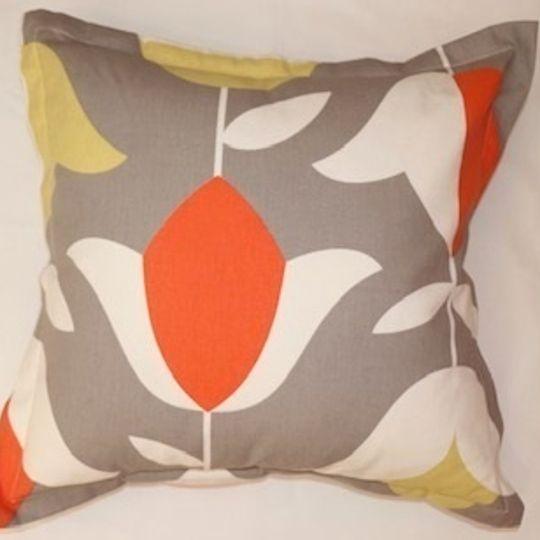 orange tulip cushion cover
