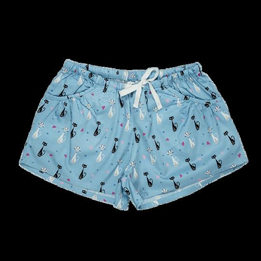 Girls Short Pants - Pockets Cats