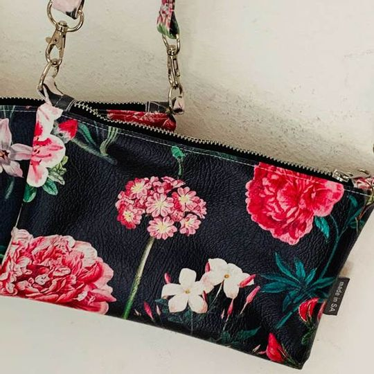 Cross Body Bag - Peony Ebony