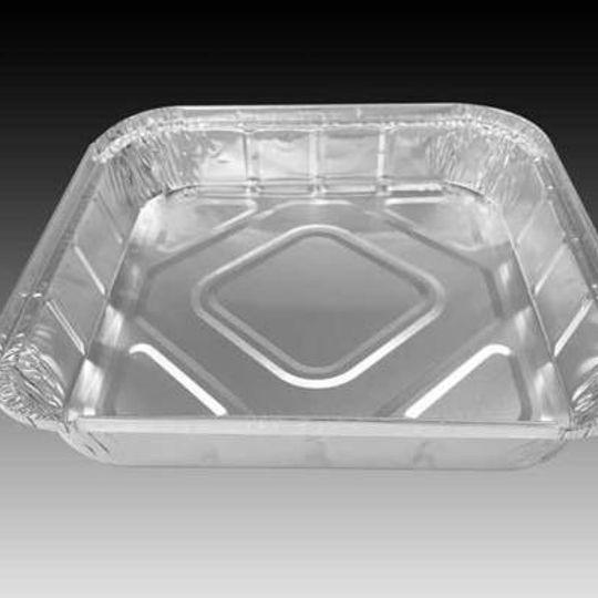 W4583-SH-1,6 litre square aluminium foil catering container