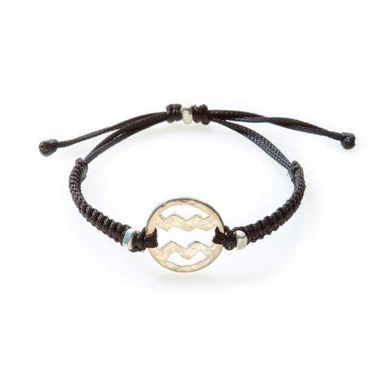 SPIRIT Macrame Bracelet Aquarius - Black