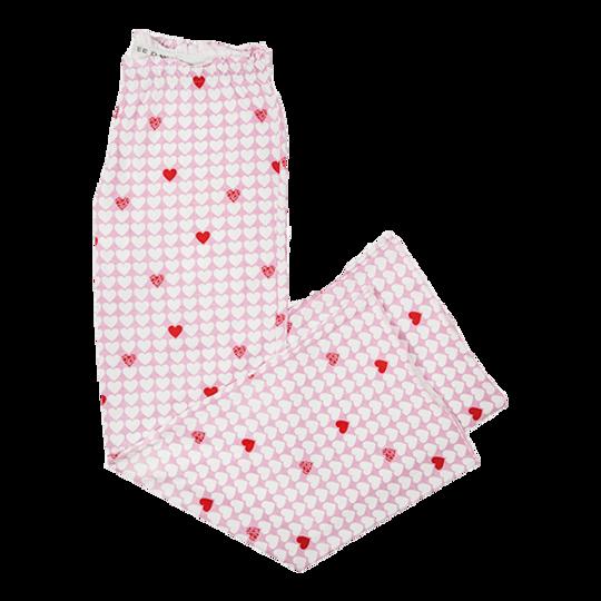 Long Pants - Elastic Tie Hearts (Cotton Knit)