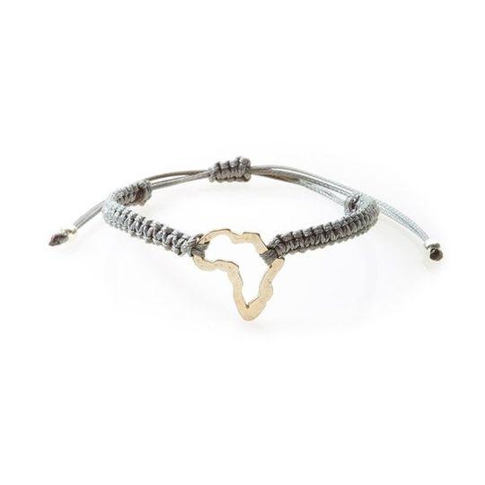COOL Macrame Bracelet Africa - Dark grey
