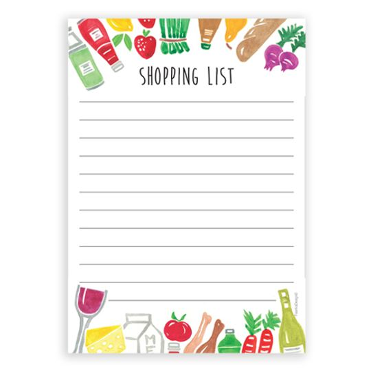 A6 Notebook - Shopping List