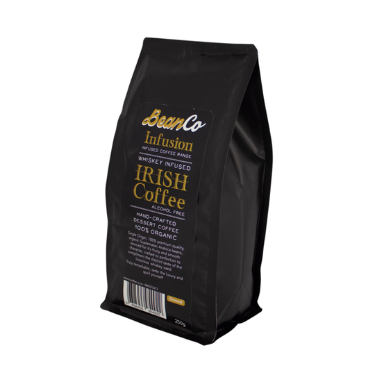 BeanCo Whiskey Infused Irish Coffee Ground (250g)