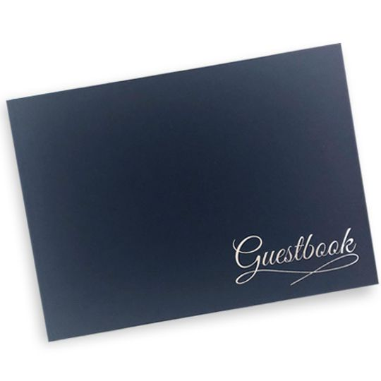 Guest Book - navy English