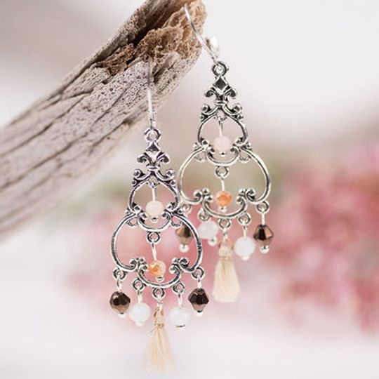 Filigree Chandelier Crystal Earrings