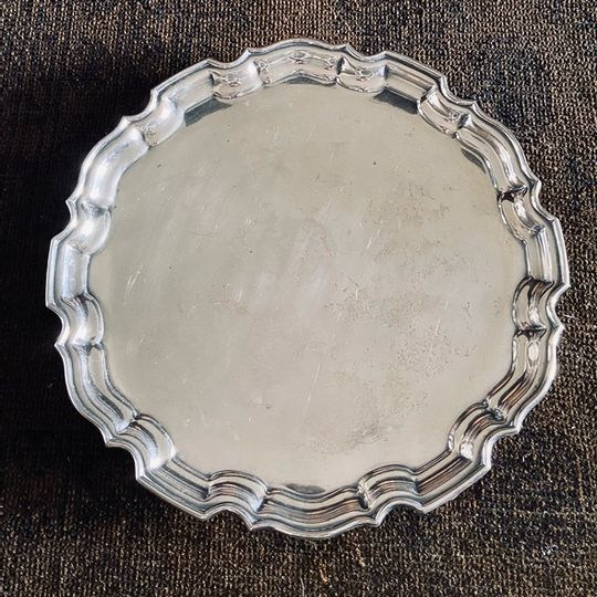 Antique Tray with scallop detail