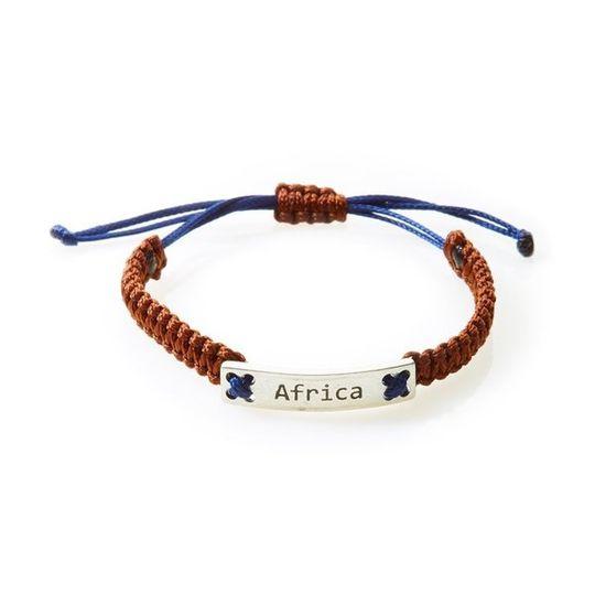 CHAMP Macrame Bracelet Africa - Choc Brown/Navy Blue