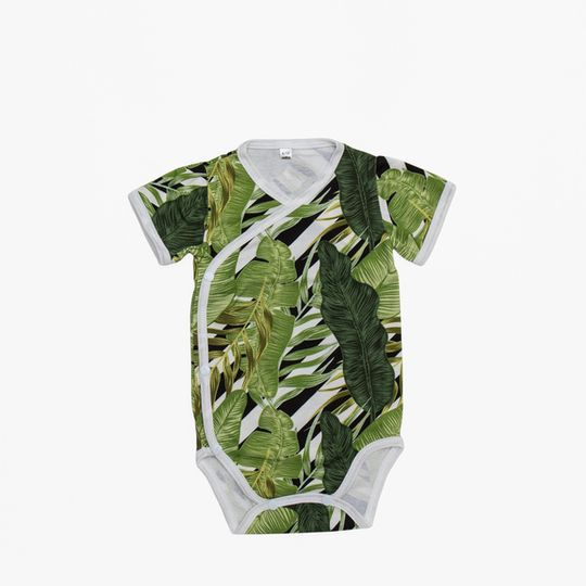 Big green leaf onesie