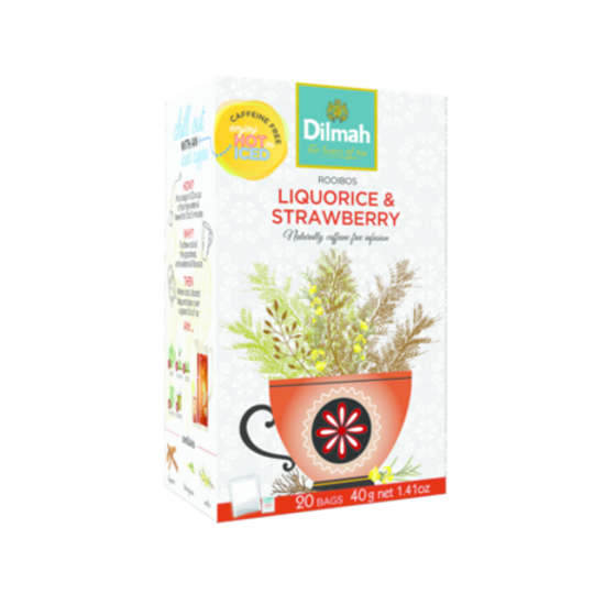 Dilmah Red Rooibos with Liquorice & Strawberry (20 x 2g tagged tea bags)