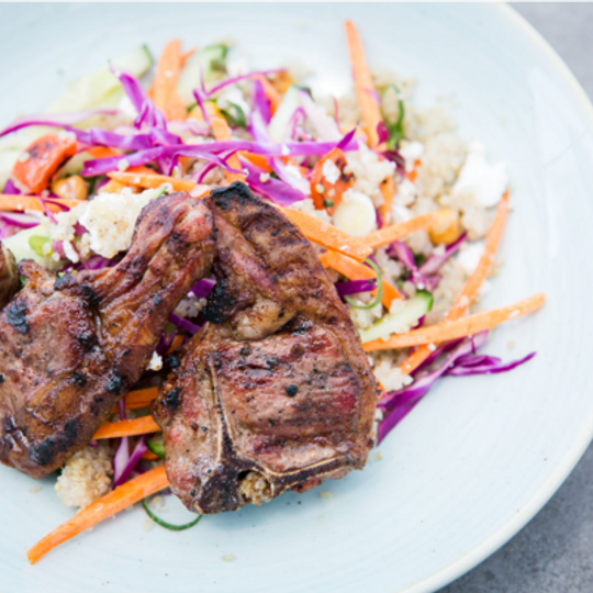 Grilled Lamb Chops with Quinoa Salad