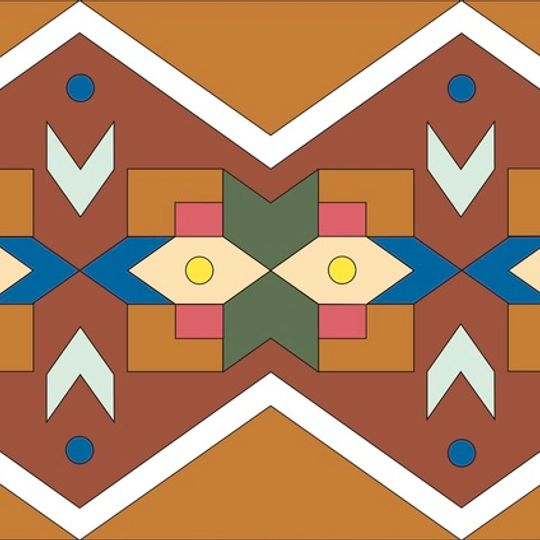 Ndebele Pattern Illustration