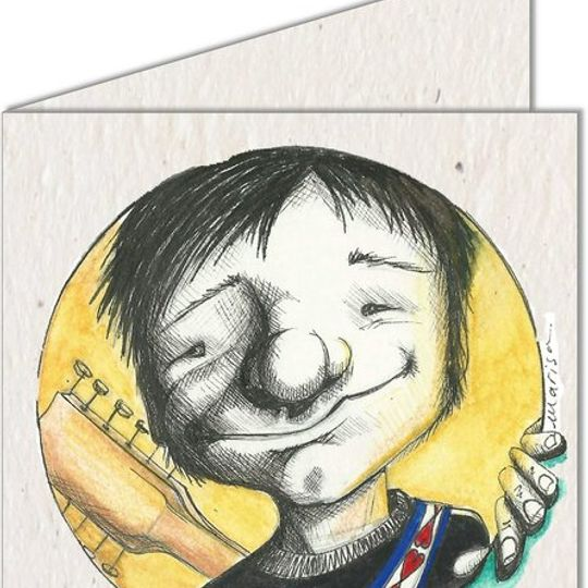 Greeting Card   Boy with a Guitar
