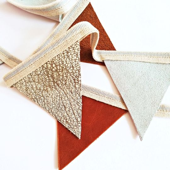 Bunting Flags Genuine Leather