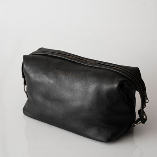 The Handstitched Toiletry Bag - Black