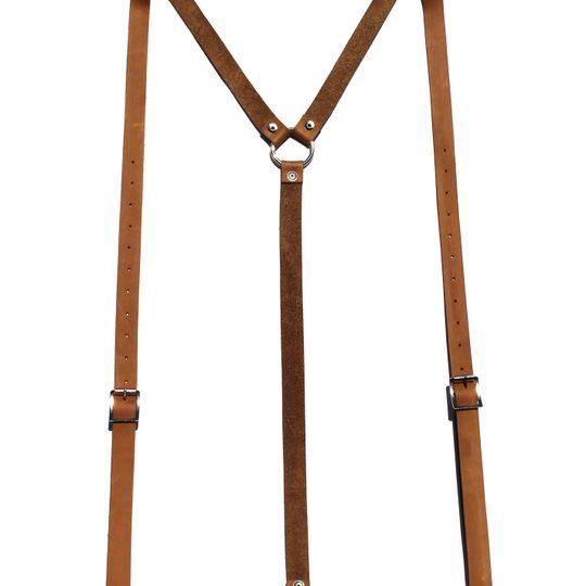 Genuine Leather Suspenders
