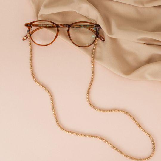 Beaded Glasses Straps - Gold