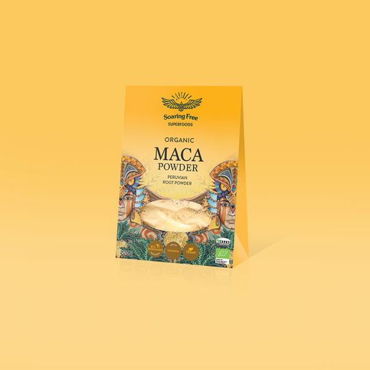 SOARING FREE SUPERFOODS Organic Maca Yellow Powder - 200g