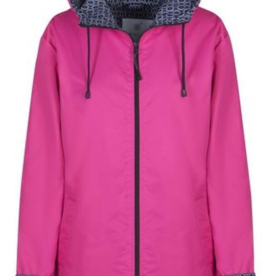 Pink Long Length Raincoat