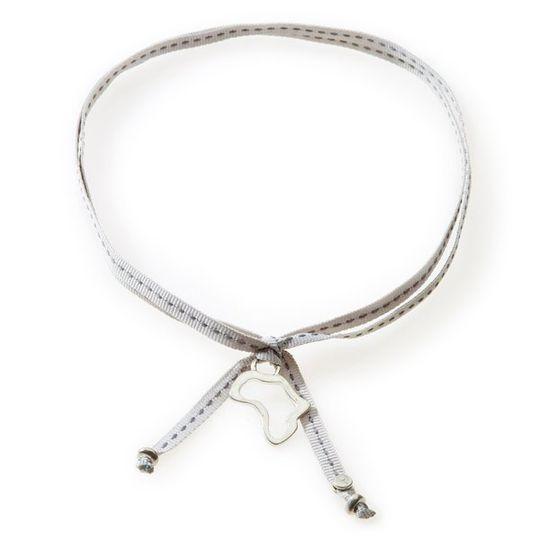 FEISTY Ribbon Necklace & Choker Africa - Light Grey