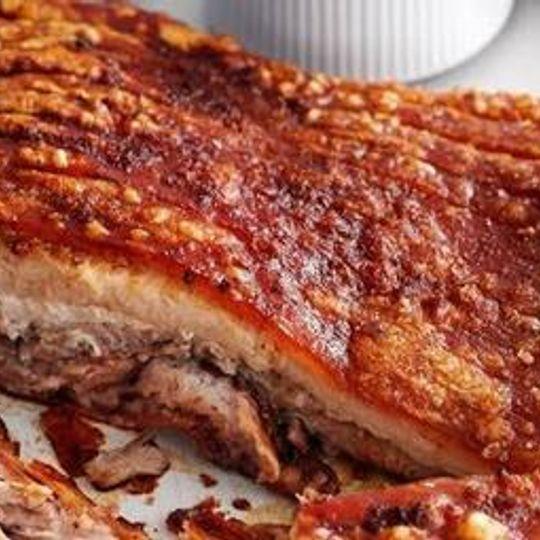 1kg Pork Belly Roast (Rind on Deboned) Local