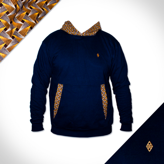 Leopard Hooded Weave - Navy
