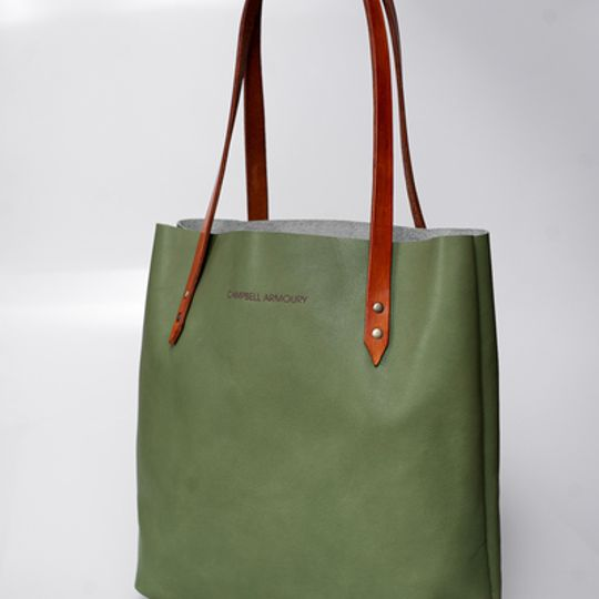Leather Totebag - Mint
