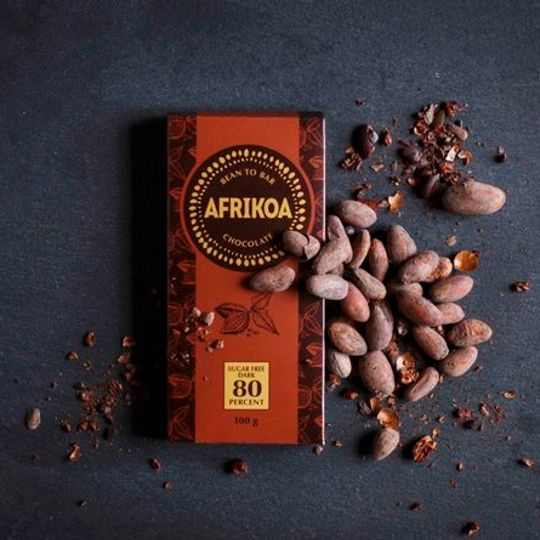 Afrikoa Sugar Freedark Chocolate 80% (100g)