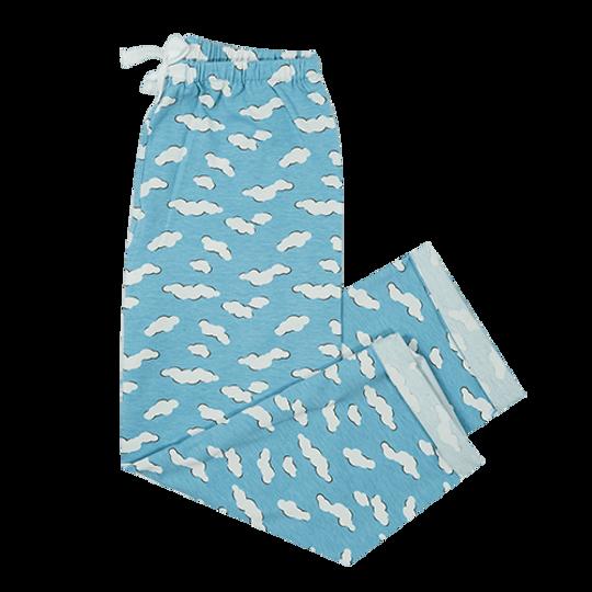 Girls Long Pants Clouds (Cotton Knit)