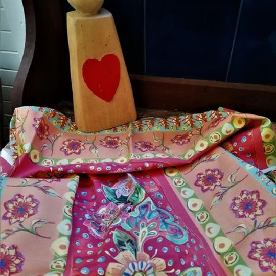 Mexican Flowers: Table Cloth / Per Meter