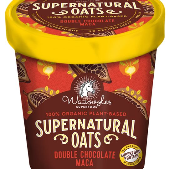 Wazoogles Supernatural Oats - Double Chocolate Maca 300g carton