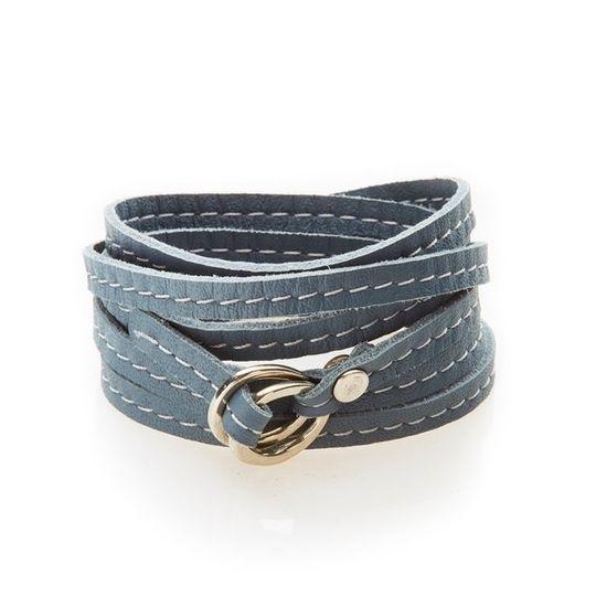 REBEL Versatile leather wrap Dark Grey