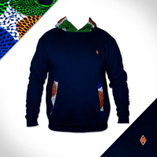 Orange Hooded Orb - Navy